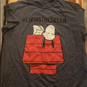 NWOT Peanuts Living the dream tshirt